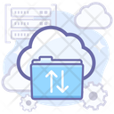 Folder Transfer Upload Cloud Icon
