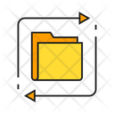Folder File Transfer Shift Icon