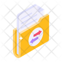 Folder Transfer Data Transfer Data Sharing Icon