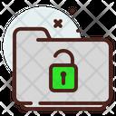Folder Unlocked Icon