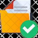 Folder Verify Check Folder Approved Folder Icon
