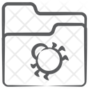 Folder Virus Folder Bug Spider Icon
