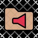 Folder Directory Sound Icon