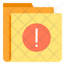 Alert Caution Folder Icon