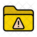 Warning Folder Alert Icon