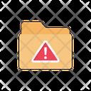 Exclamation Folder Warning Icon