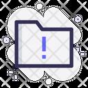 Folder Warning Folder Alert Folder Icon