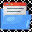 Folder Website Web Folder Web Data Icon