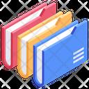 Files Data Management Folders Icon