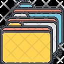 Folders Multiple Folders Documents Icon