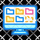 Folders Data Computer Icon