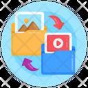 Files Transfer Folders Exchange Folders Transfer Icon