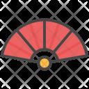 Fan Folding Traditional Icon