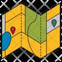 Folding Map Icon