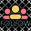 Follow Social Media Join Icon