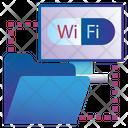Internet Wifi Folder Icon