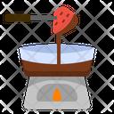 Fondue Chocolate Dessert Icon