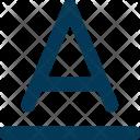 Font Alphabet Letter Icon