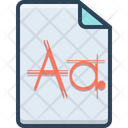 Font File Type Icon