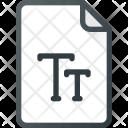 Font True File Icon