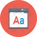 Font Alphabet Webpage Icon
