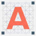 Text Document Font Icon