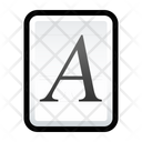 File Font Open Type Icon