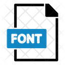 Font File File Format Icon