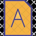 File Font Otf Icon