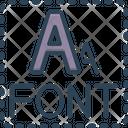 Font Size Font Type Icon