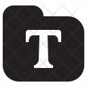 Fonts Folder Collection Icon