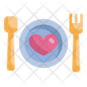 Food Dinner Heart Icon