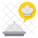 Food Delivery Tray Order Message Icon