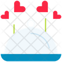 Food Cloche Heart Icon