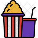 Popcorn And Soda Popcorn Soda Icon
