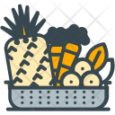 Raw Food Basket Icon