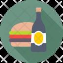 Food Wine Burger Icon