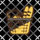 Food Basket Bread Icon