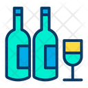 Drinks Champagne Bottles Icon