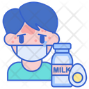 Food Allergy Dairy Food Icon
