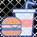 Food And Drink Junk Food Hamburger Icon