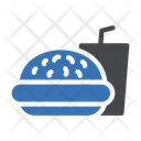 Food And Drink Burger Cold Drink Icon