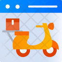 Food Application Online Order Scooter Icon