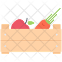 Crop Apple Carrot Icon