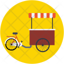 Food Bike Stand Icon