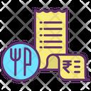 Food Bill Restaurant Bill Restaurant Invoice Icon