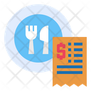 Dish Restaurant Bill Icon