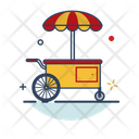 Food Cart Street Stand Icon