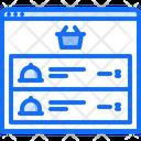 Basket Cloche Food Icon