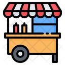 Food Cart Stand Icon